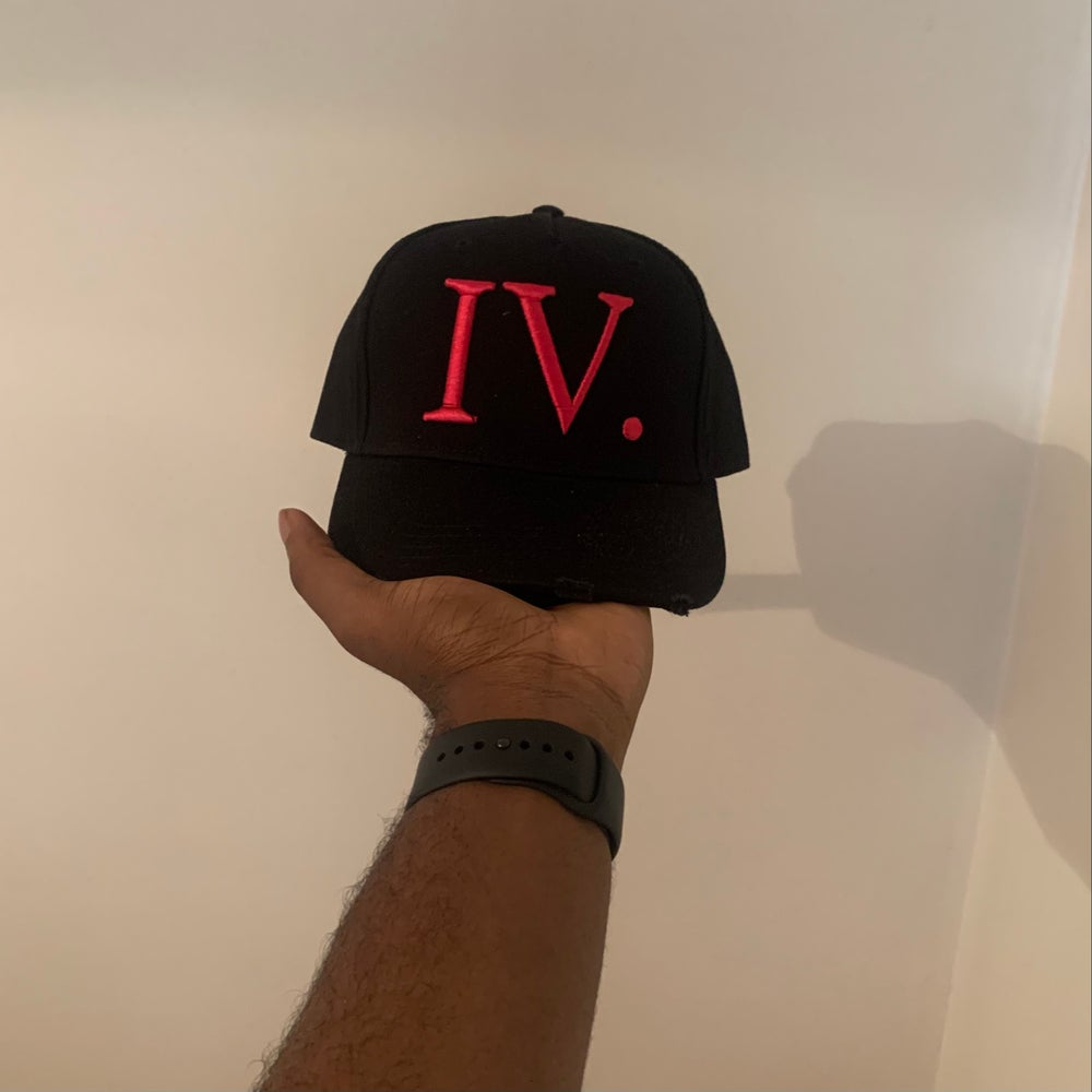 Image of Black and Red, IV Seasons. I God Trucker Cap