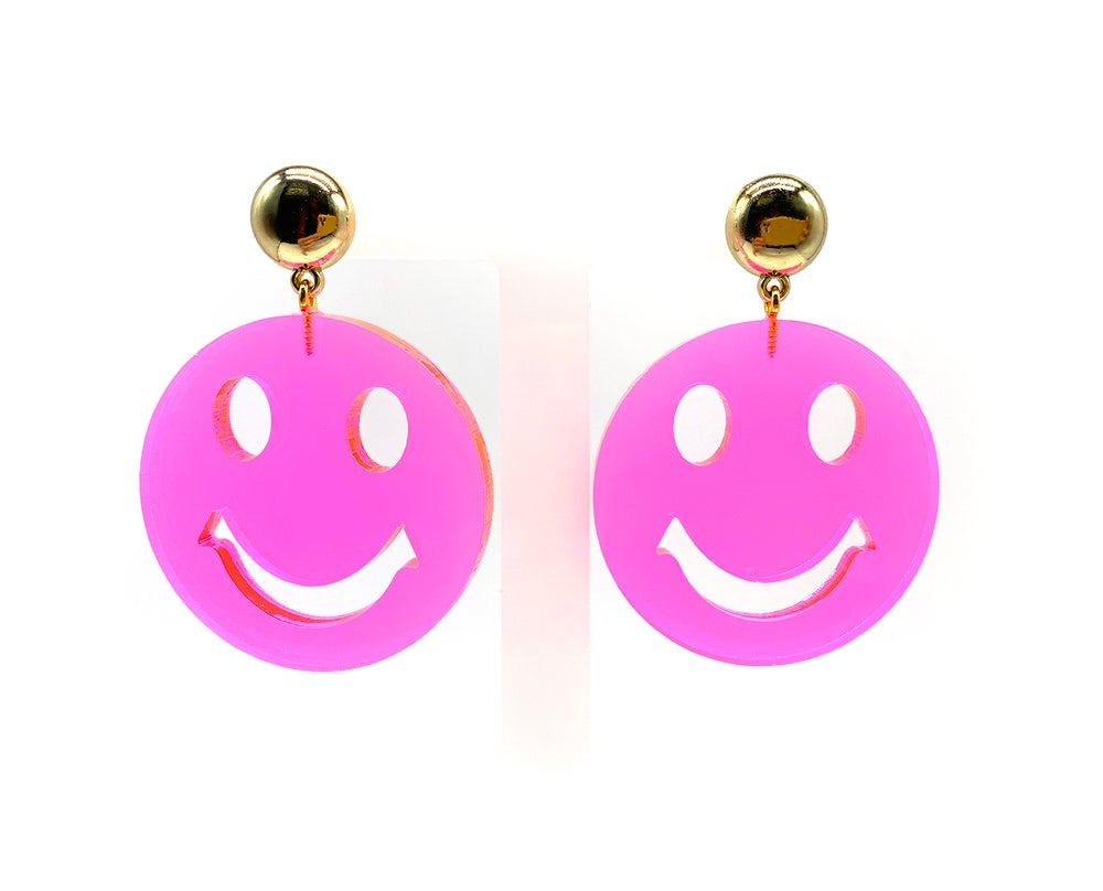 Image of Smiley Happy Face Statement earrings