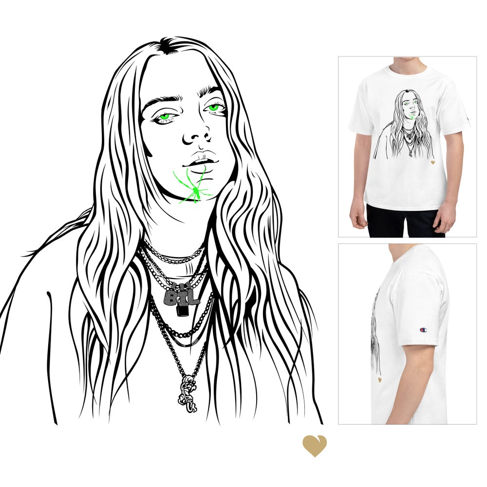 Image of Billie Eilish Champion Shirt