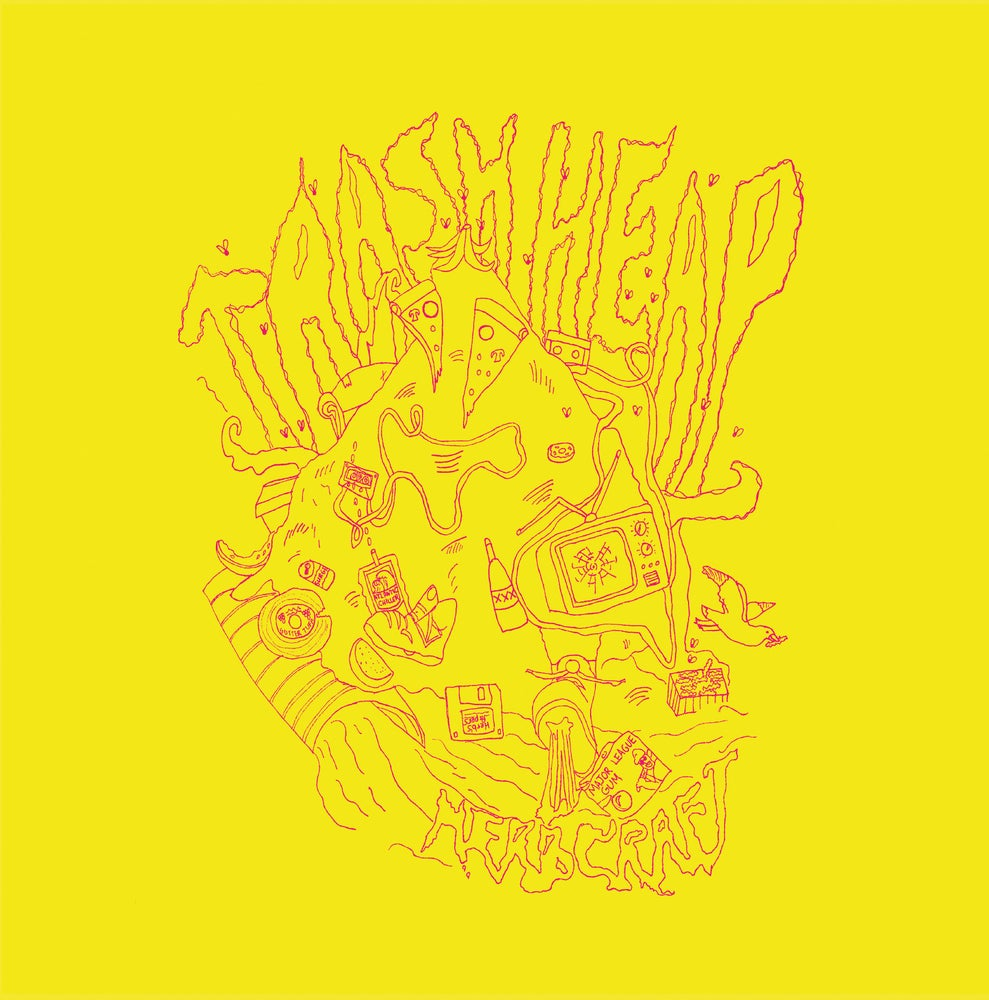 Image of Herbcraft - Trash Heap (Toxic Yellow Vinyl with bonus ROBES CDr) CARDINAL FUZZ