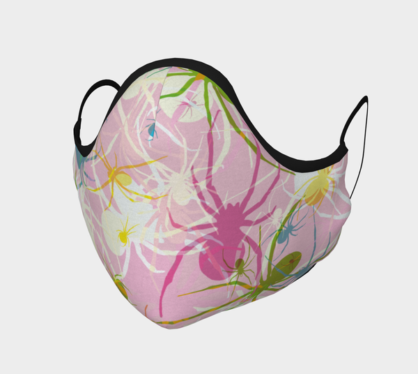 Image of Pink Widow Spiders Face Mask