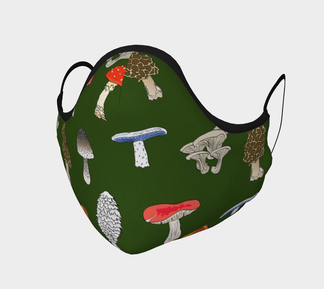 Image of Mushrooms Face Mask