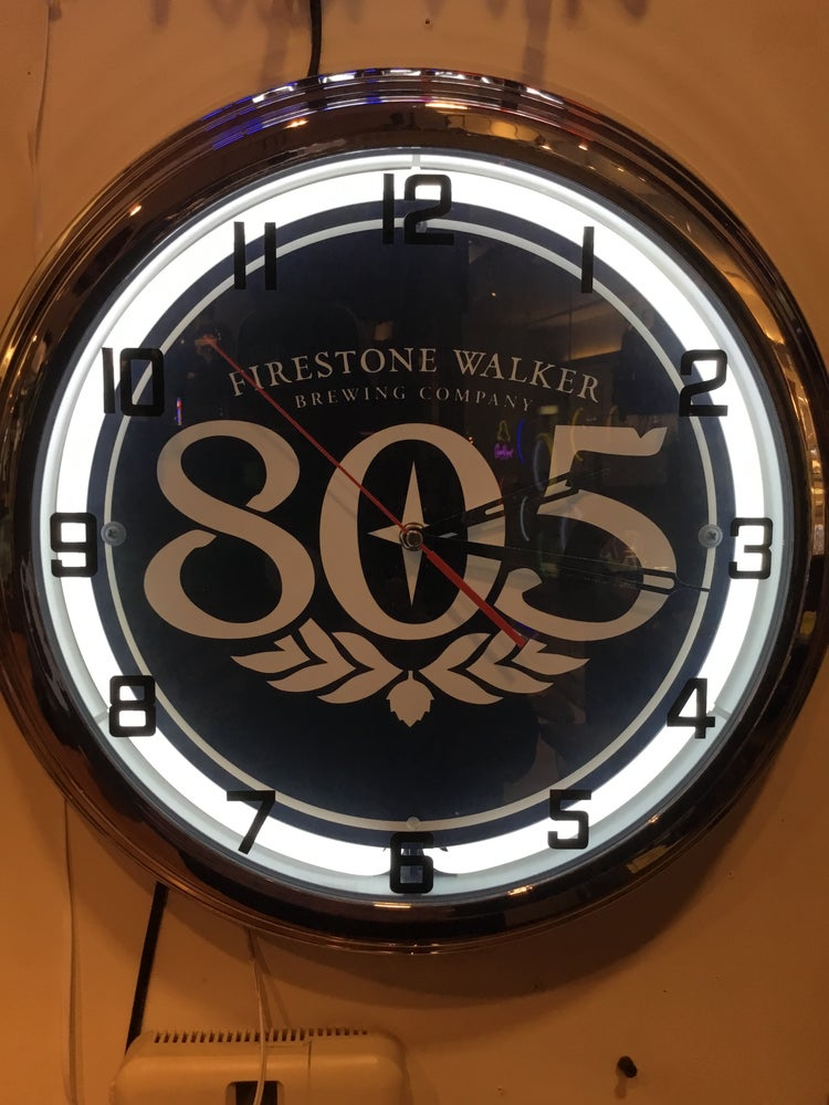 Image of 805 beer neon clock