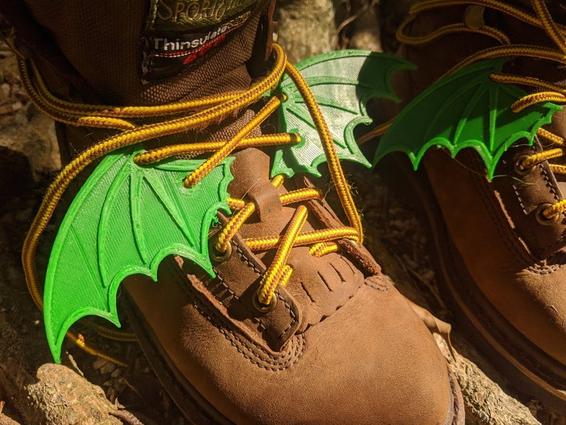 Image of 2 Pairs of Bat Wings for Boots and Shoes