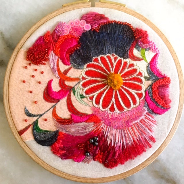 Image of Craft Week presents EMBELLISHED APPLIQUÉ with AMY JONES Sunday Oct 11th 10-3pm