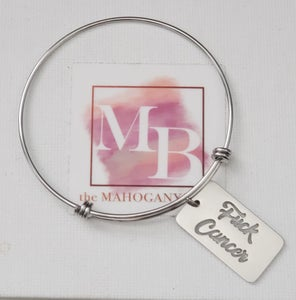 Image of Fuck Cancer Charm Bangle