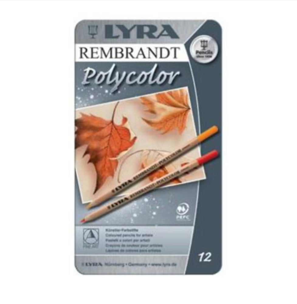 Image of Lyra Rembrandt Polycolour Tin 12 Assorted