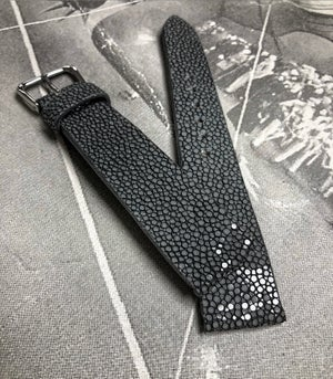 Image of Grey stingray classic watch strap