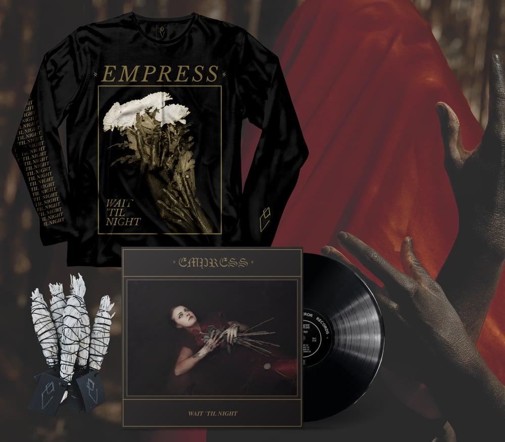 """Empress """"Wait 'Til Night"""" LP/Long-sleeve/Smudge Stick Bundle"""