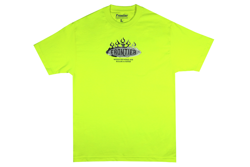 Image of Only The Strong T-Shirt Safety Green