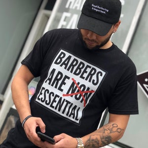 "Image of ""Barbers Are Essential"" Official T-shirt!"