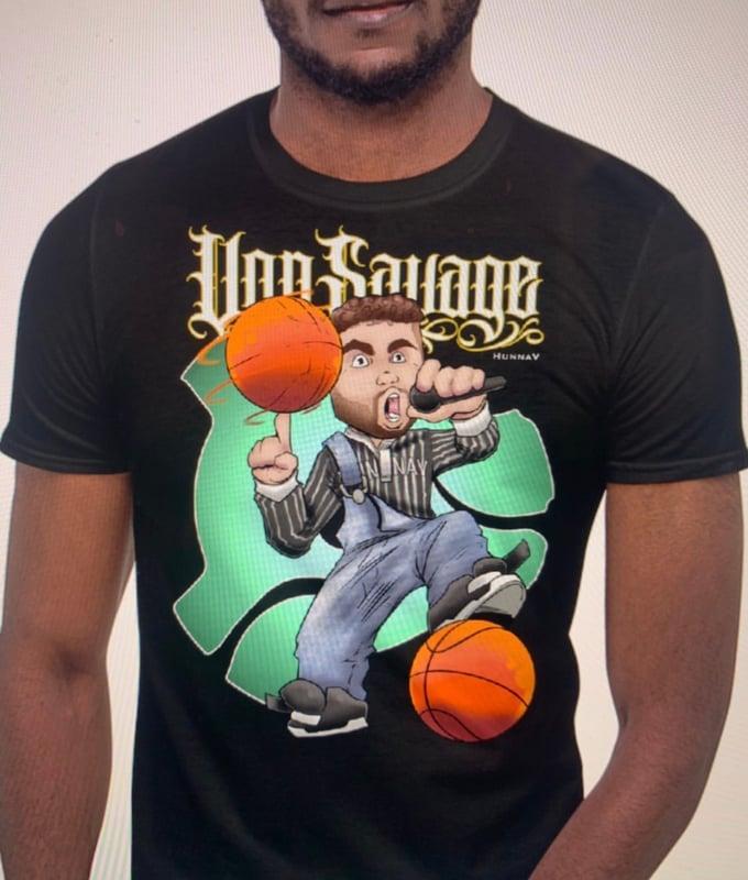 Image of HunnaV x VonSavage Cartoon T-shirt collab