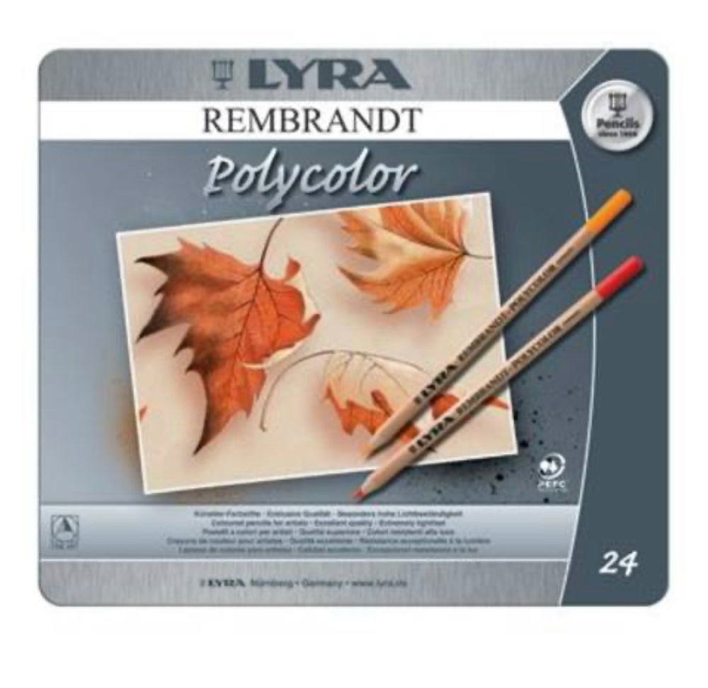 Image of Lyra Rembrandt Polycolour Tin 24 Assorted
