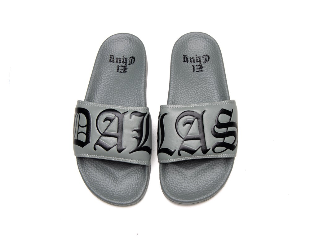 Image of DALLAS GRAY SLIDES (NOW SHIPPING)