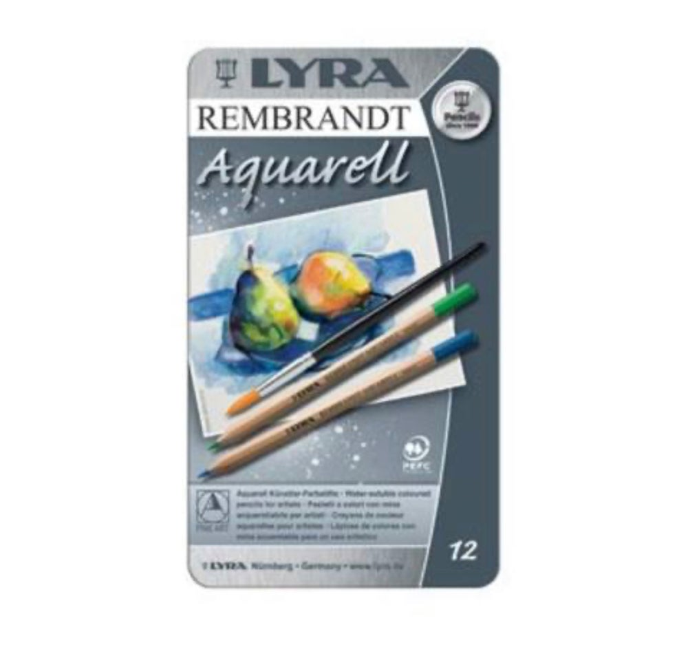 Image of Lyra Rembrandt Aquarelle Watercolour Pencil, Tin 12 Assorted
