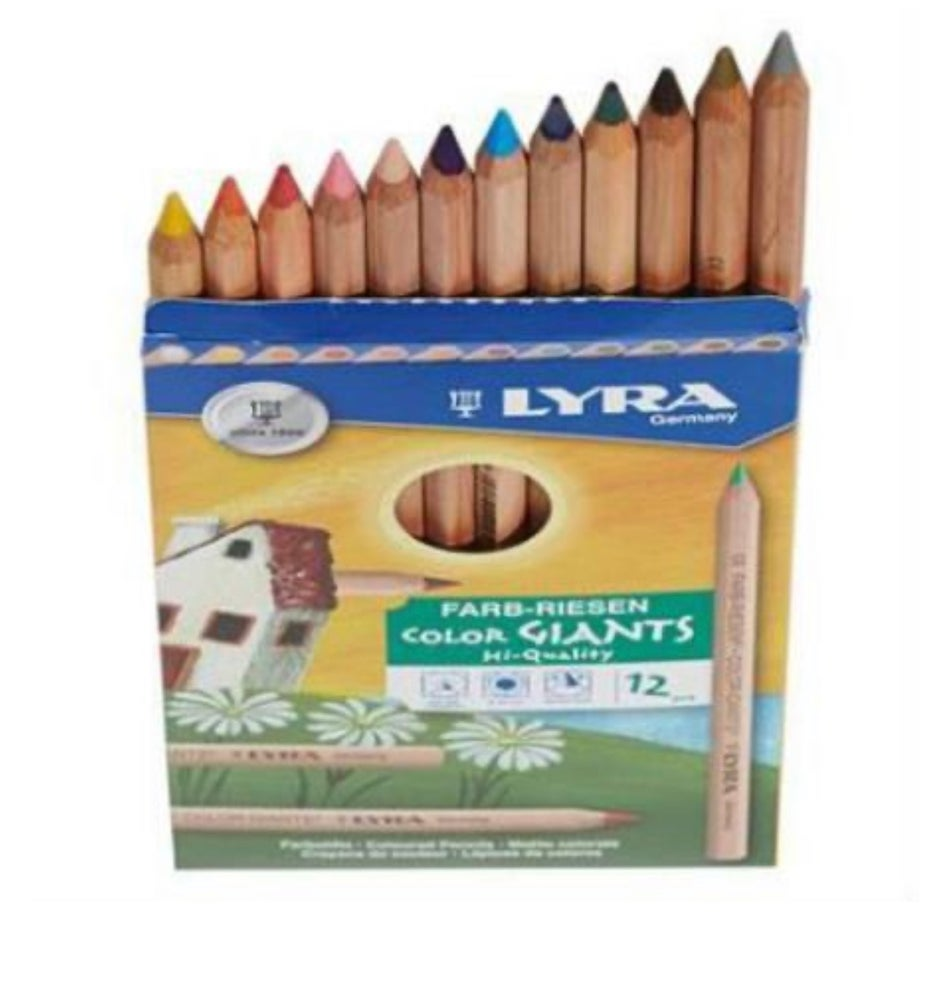 Image of Lyra colour giants unlaquered 12 assorted w gold and silver