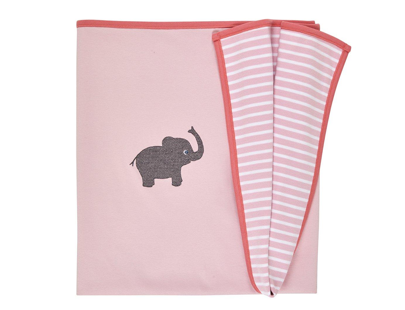 Image of Decken mit Elefant rosa Art.807774