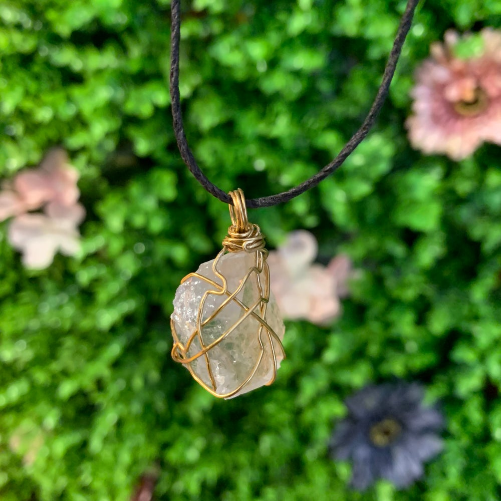Image of Custom Wire Wrapped Crystal Pendant