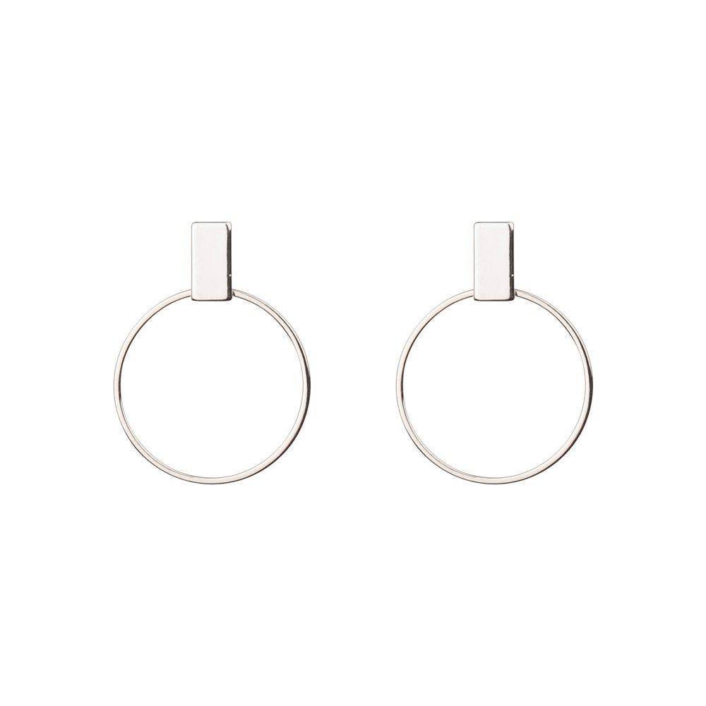 Image of Rhodium hoops