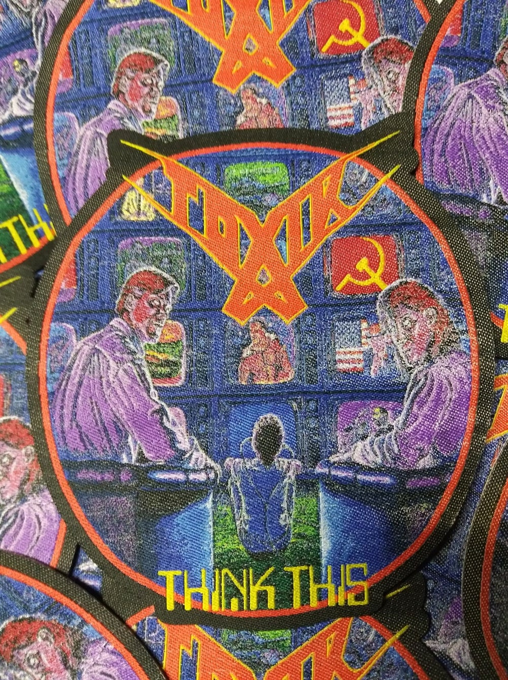 TOXIK Think This Laser Cut Woven Patch
