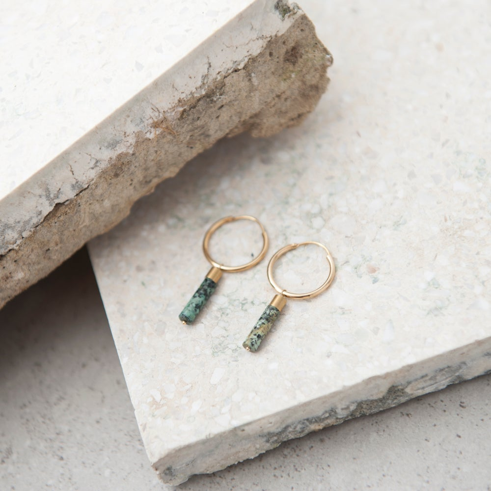 Image of Jasper cylinder hoops