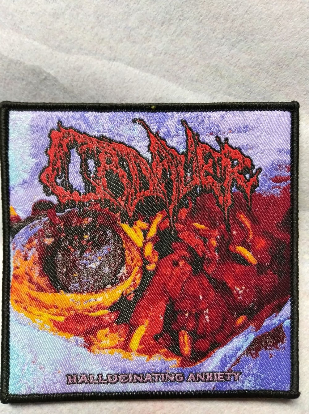 Cadaver Hallucinating Anxiety Woven Patch
