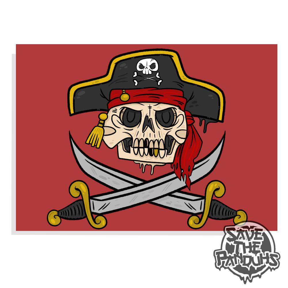 """Image of Jolly Roger 5x7"""" Print"""