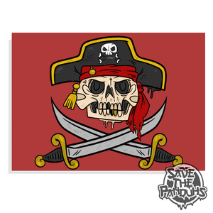 "Image of Jolly Roger 5x7"" Print"