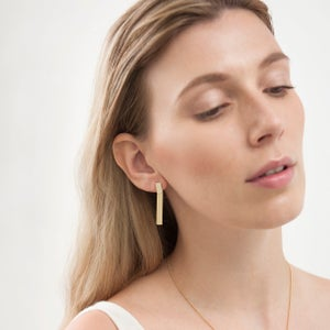 Image of Gold bar earrings