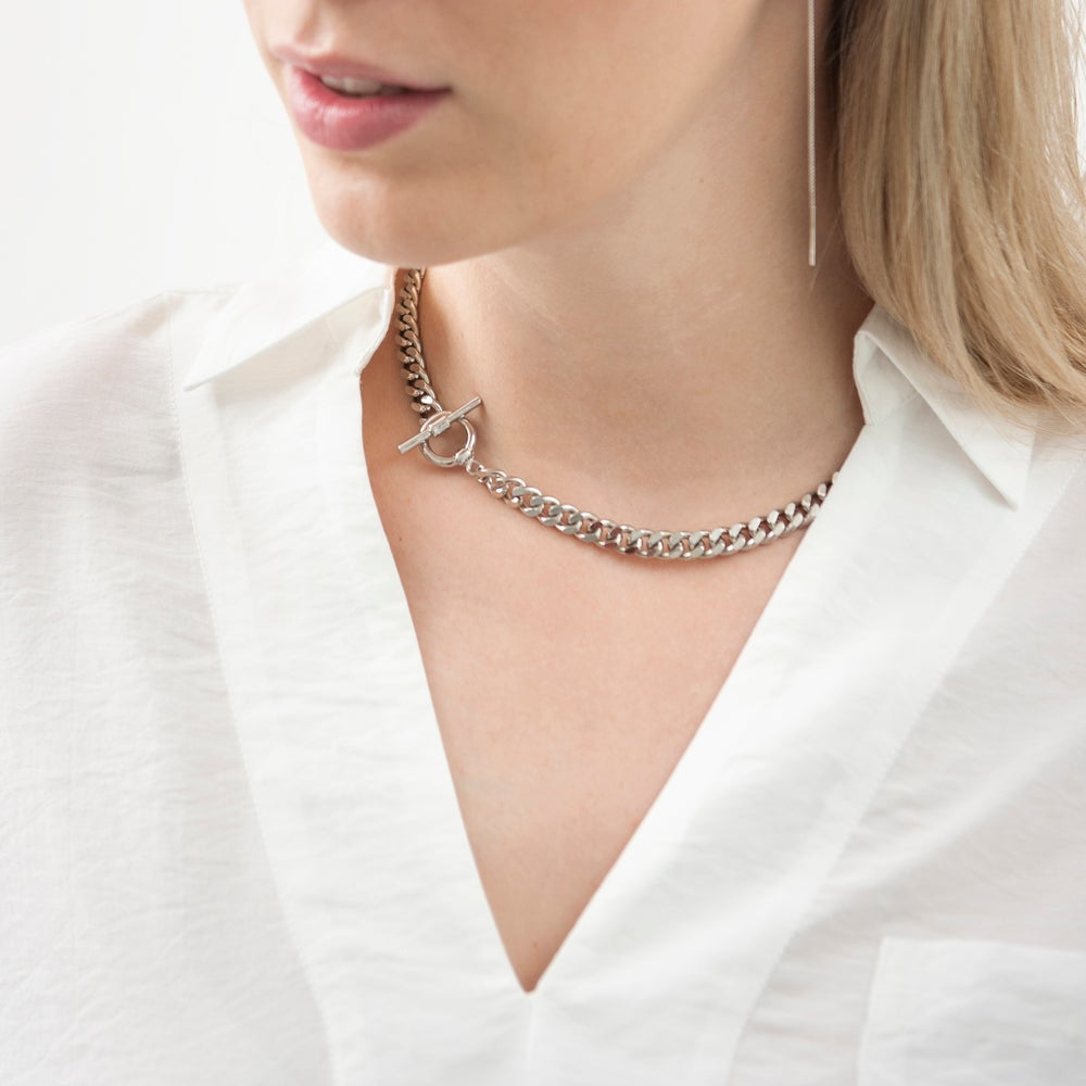 Image of Short curb chain necklace