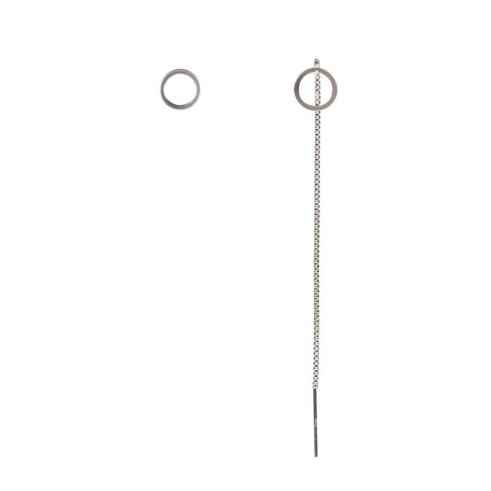 Image of Rhodium threader and earstud