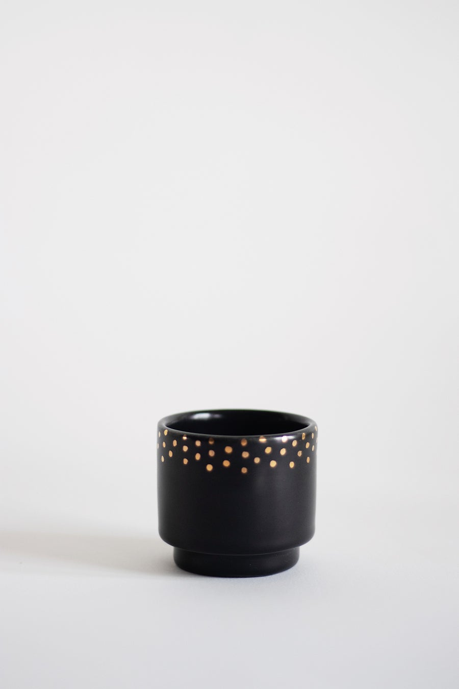 Image of Black and Gold  dots Coffee Cup