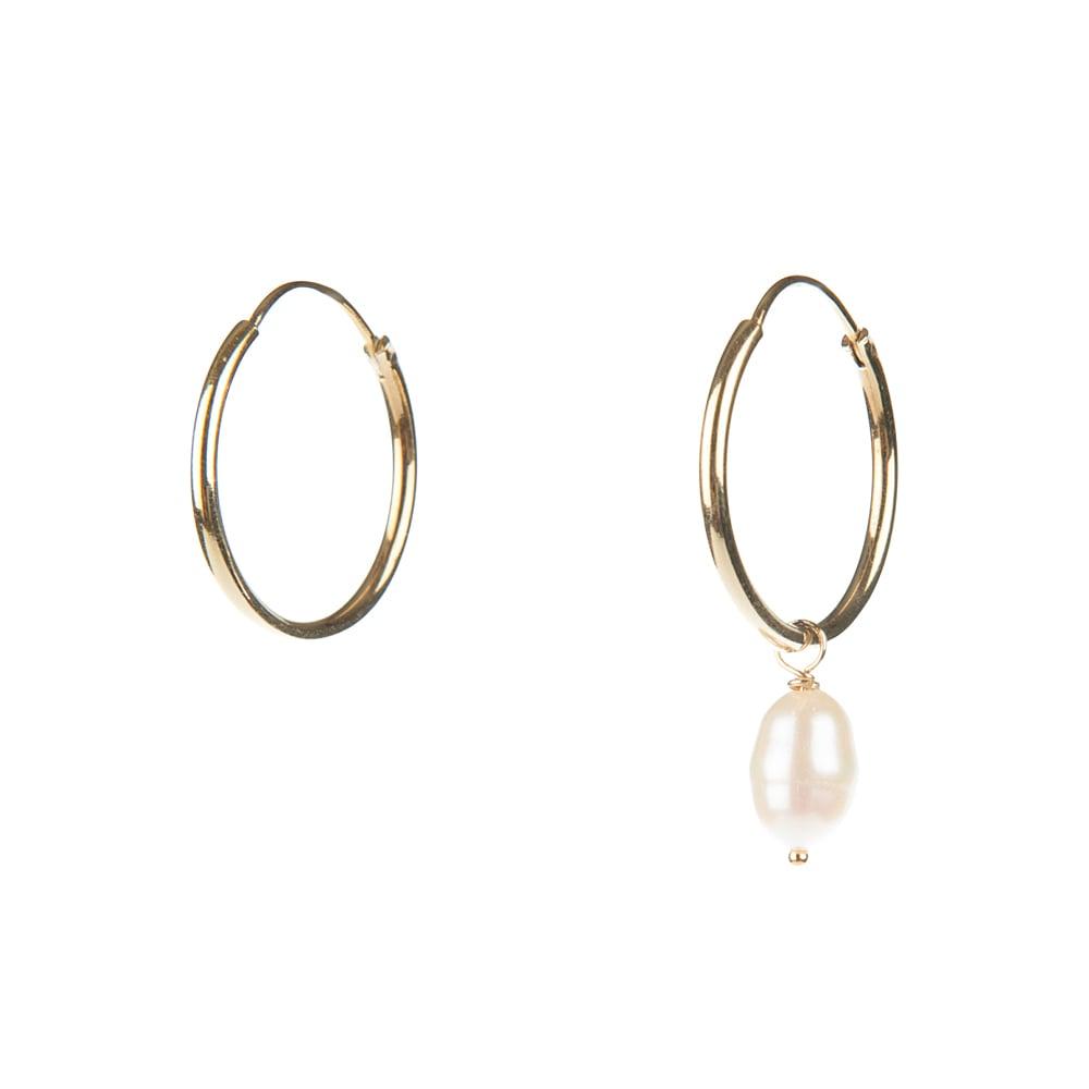 Image of Fresh water pearl hoops