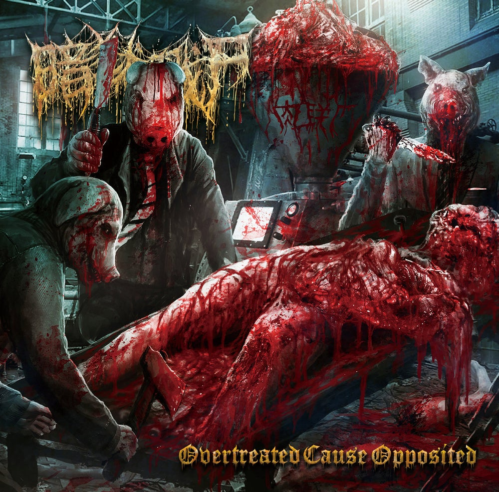 Image of THE DARK PRISON MASSACRE - Overtreated Cause Opposited CD