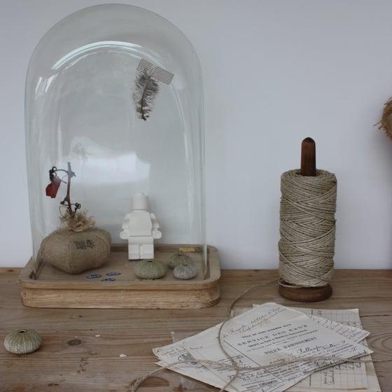 Image of Porte bobine ficelle en bois.