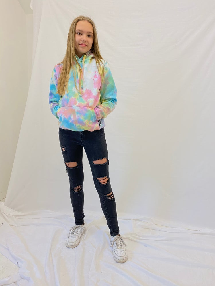Image of Junior Tie Dye Pastel Hood
