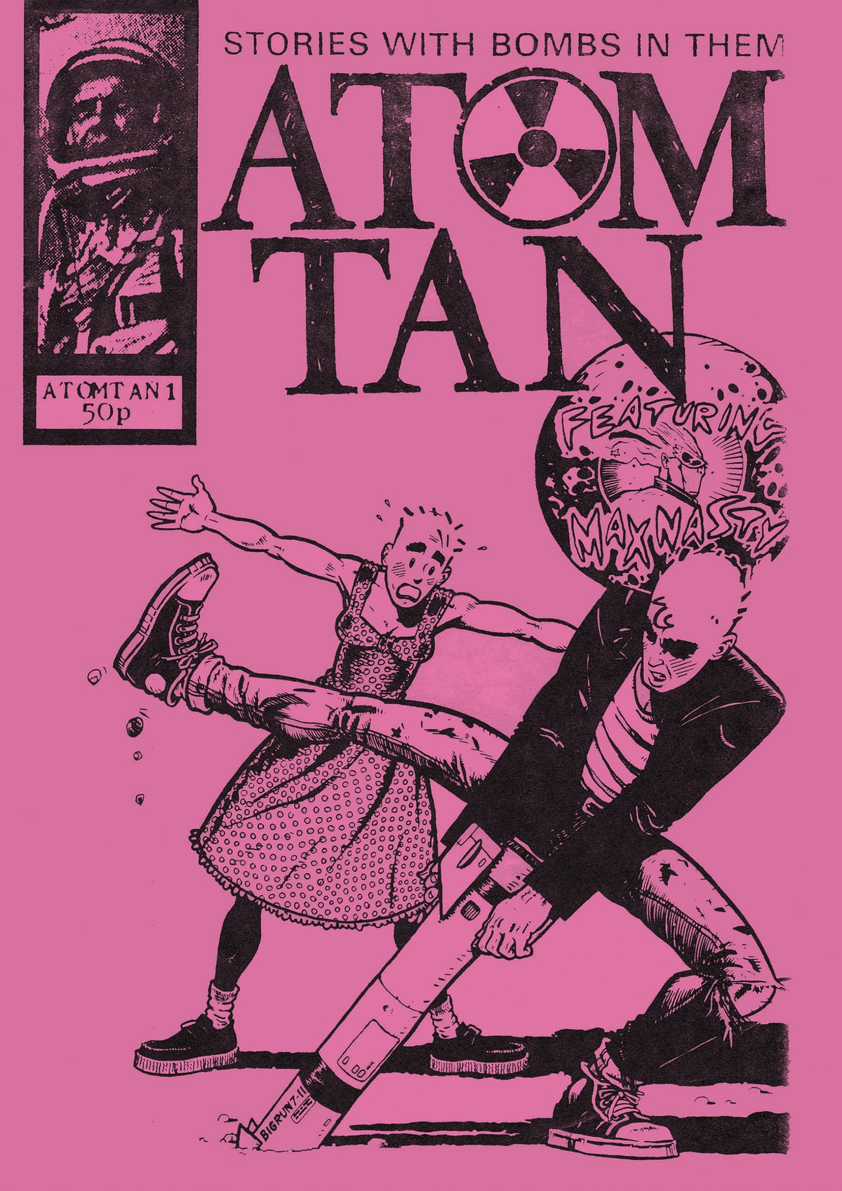 """Image of ATOM TAN """"NEON PINK"""" EDITION (with poster and badge!)"""