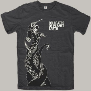 """Image of Shirt """"Astronaut vs. Space Octopus"""""""