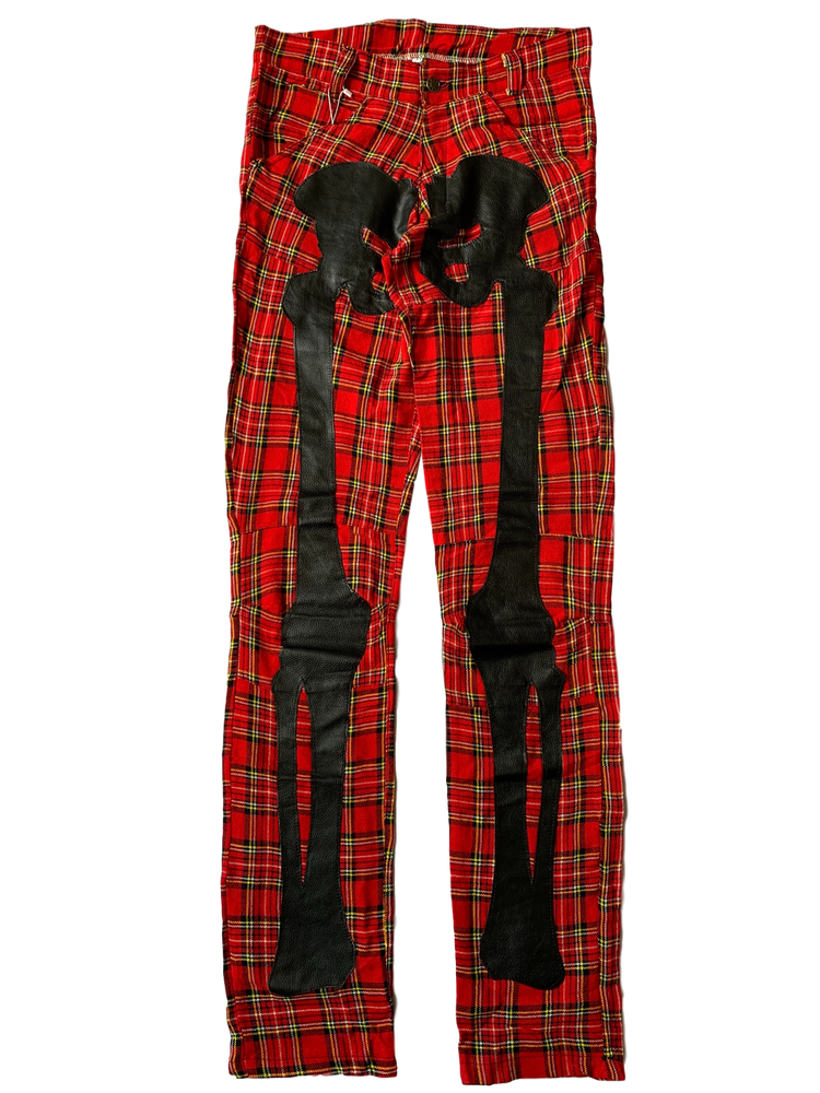 Image of TARTAN PLAID BIKER BONES PANTS