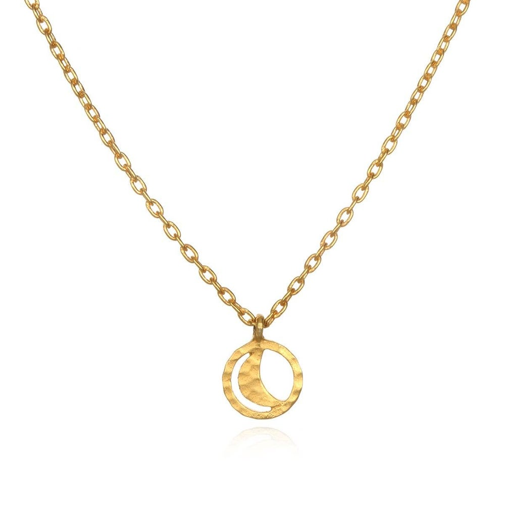 Image of Gold  Moon Necklace