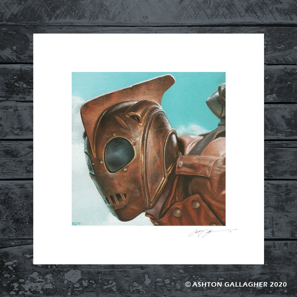 Image of THE ROCKETEER MINI PRINT