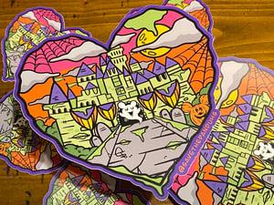"Image of Halloween Castle Love 6"" JUMBO Sticker"