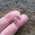 Tiny Gold Solid as a Rock Studs