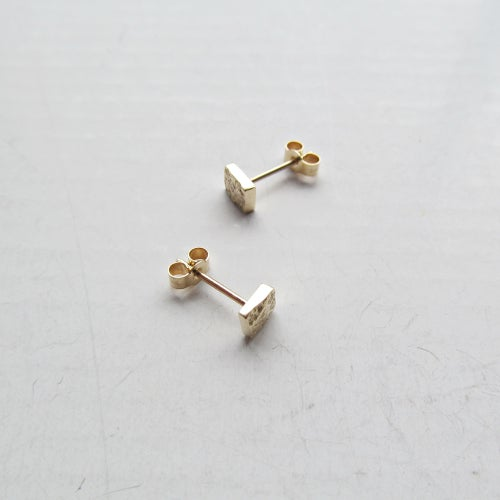 Image of Little Textured Gold Studs