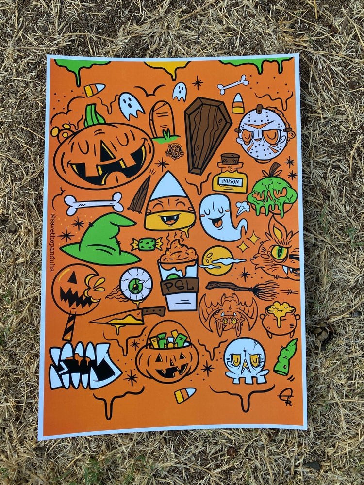 """Image of Halloween Lovers 13x19"""" Poster"""