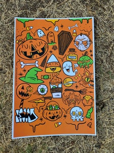 "Image of Halloween Lovers 13x19"" Poster"