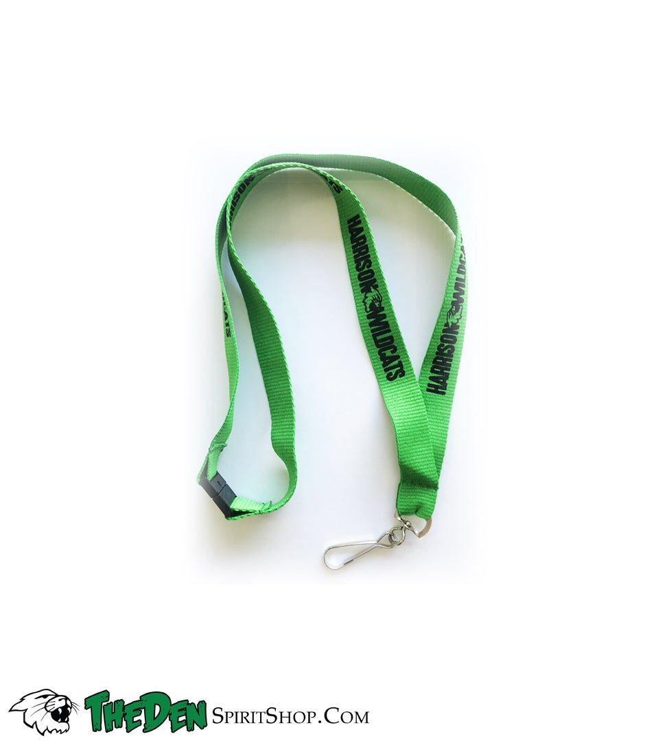 Image of Harrison Wildcats Neck Lanyard, Green
