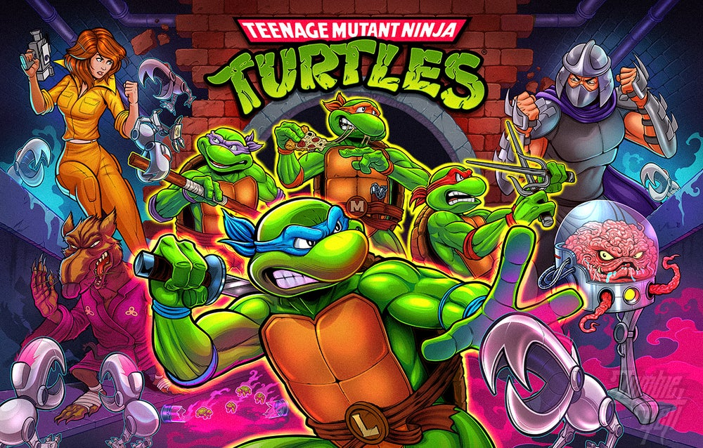 Image of Stern Pro Teenage Mutant Ninja Turtles Signed Translite
