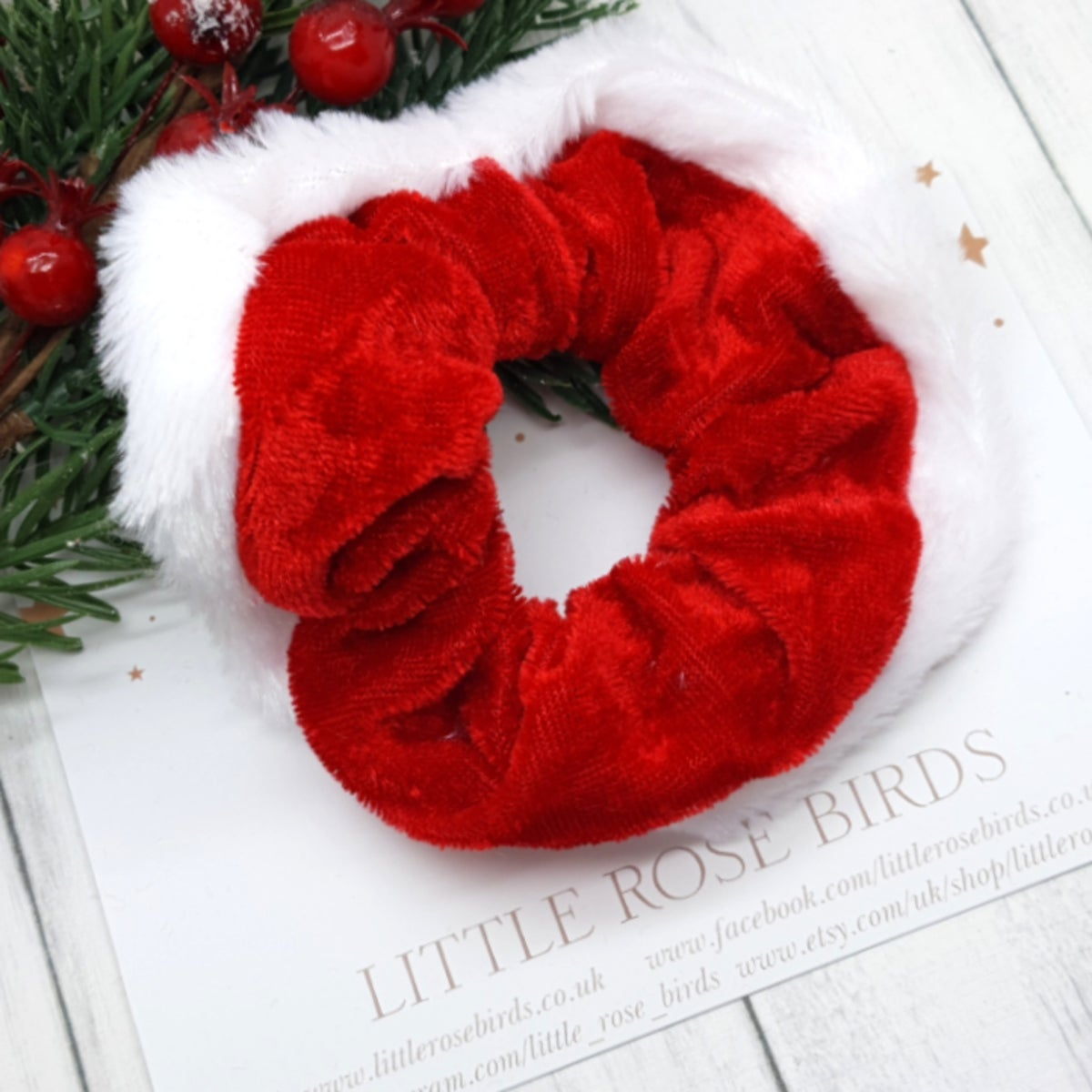Image of Velvet Santa Scrunchies