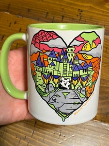 Image of Halloween Castle Love Green Mug